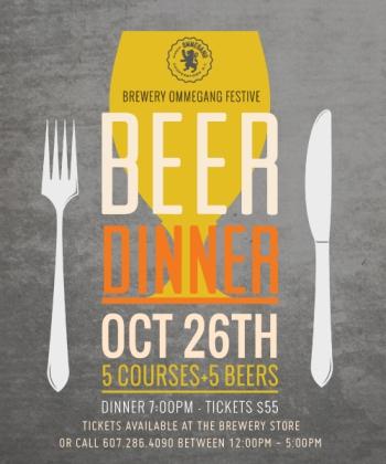 Cafe Ommegang Beer Dinner - October 26 - 7pm