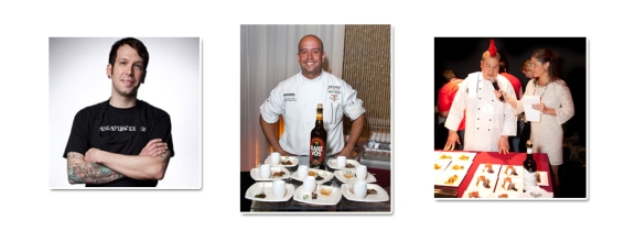 Hop Chef 2012 Regional Winners: George Sabatino of Philadelphia (L), Jaime Ortiz of Albany (M) and Jeff Eng of Washington, D.C. (R)